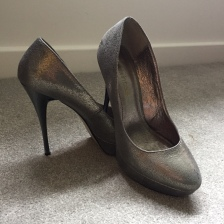 Cinderella Shoes - Gunmetal Grey